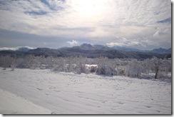 荒川土手からの雪景色