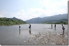 日本一の清流荒川にて