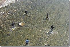鮎の伝統漁:ウナワ漁の実演