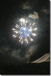荒川河川敷に打ち上げられる花火