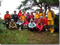 朴坂山山頂での集合写真