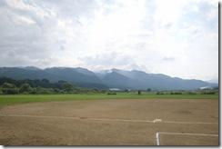 関川村スポーツ公園(遠くの山々までくっきり)